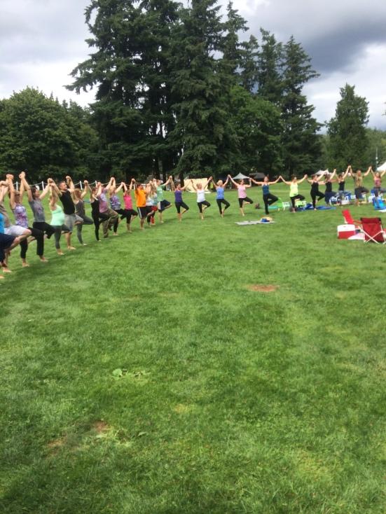 A giant yoga tree circle.